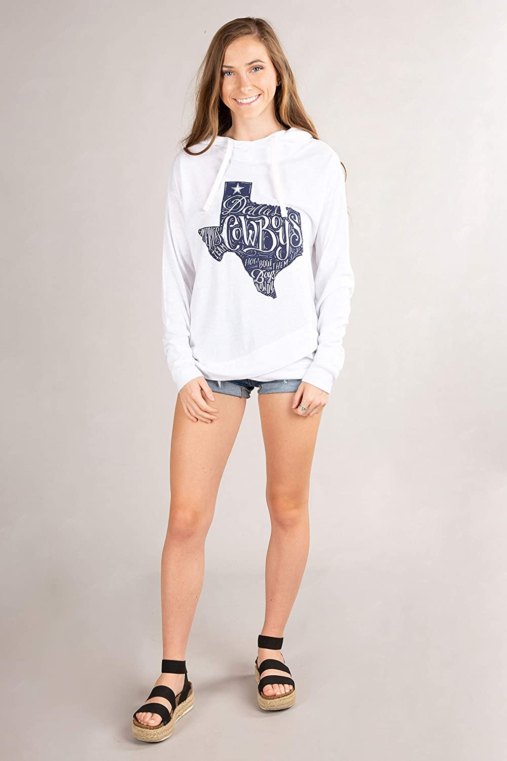 Dallas Cowboys Women's State Hooded Mayhem Tee OFFicial All items in the store site
