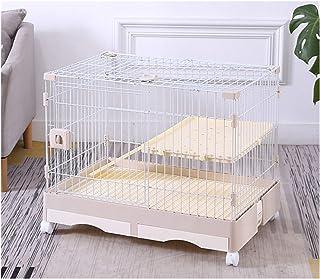 RSBCSHI Cage d'écureuil de Luxe pour Animaux domestiques, Cage de Lapin, Cage de Chat, chenil, Fournitures pour Animaux de...