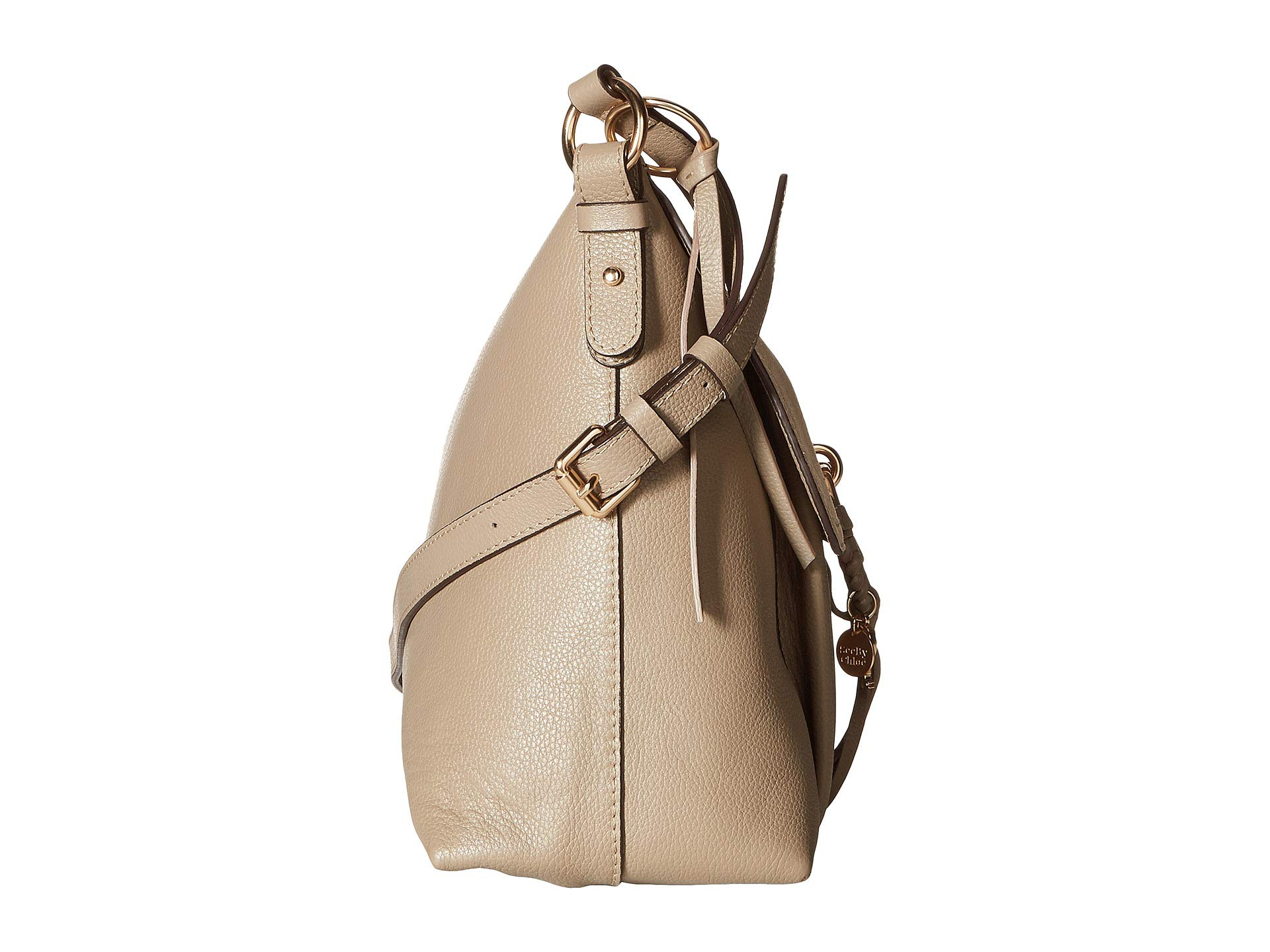 Motty Suede By Shoulder See Bag amp; Medium Joan Grey Chloe Leather AOqq1wZ