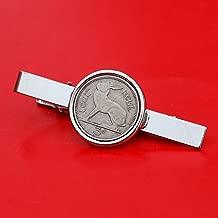 1928 ~ 1968 Irish Ireland 3 Pence Coin Silver Plated Tie Clip Bar Pin NEW - Lucky Rabbit Hare
