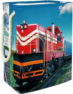 Vockgeng Locomotive de Chemin de Fer Accueil Organisation Panier de Rangement imperméable Pliable de Jouets de Jouets de P...
