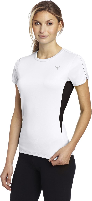 PUMA Women's PE Running Short Sleeve T-Shirt