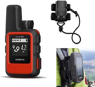Garmin inReach Mini (Orange) Satellite Communicator Bundle with Hiking Backpack Tether | Belt, Carabiner Clip | Hiking GPS, Waterproof, GEOS Emergency Response