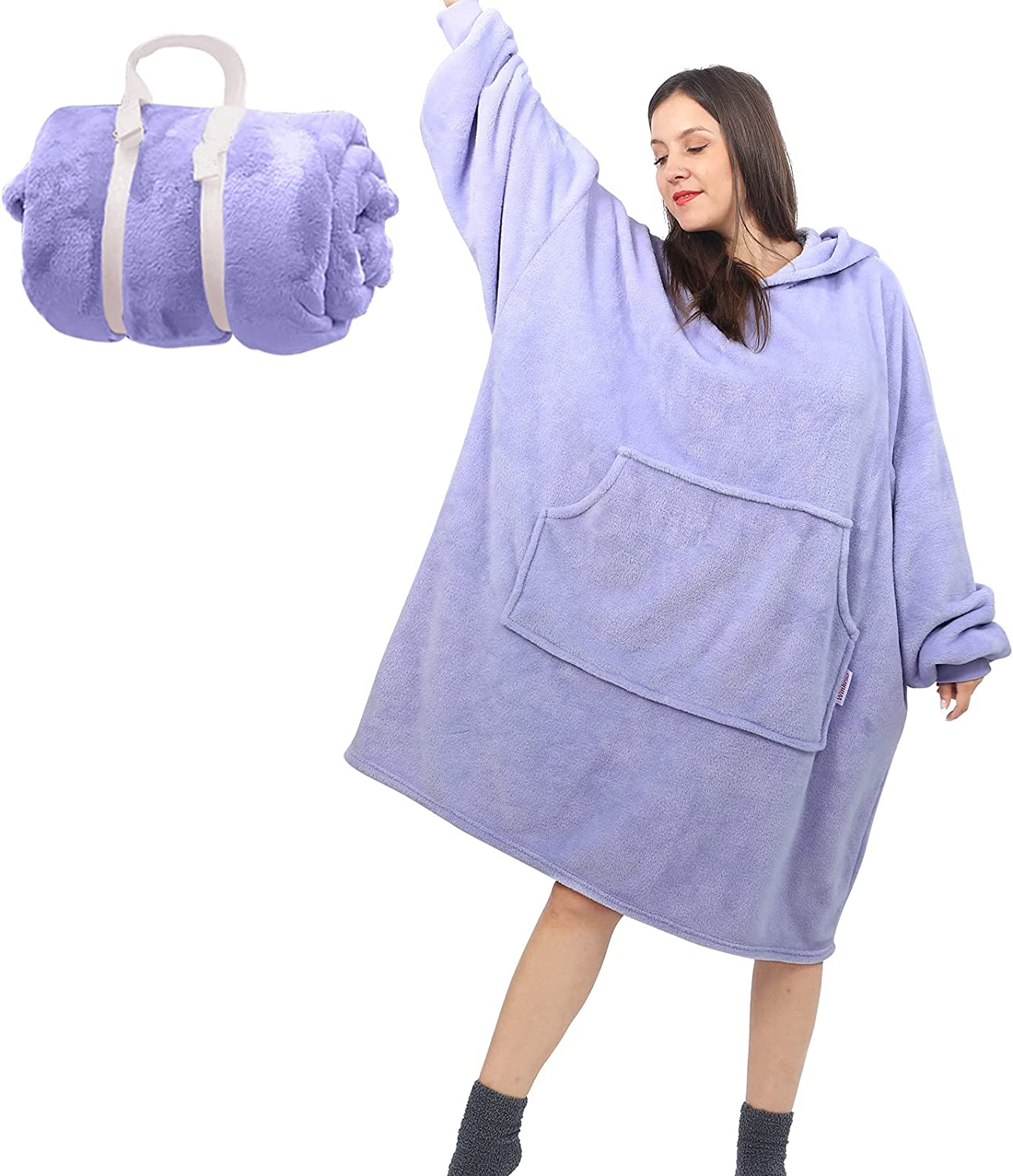 Lightweight Max 48% OFF Oversized Hoodie Blanket Blan Rare Giant Wearable