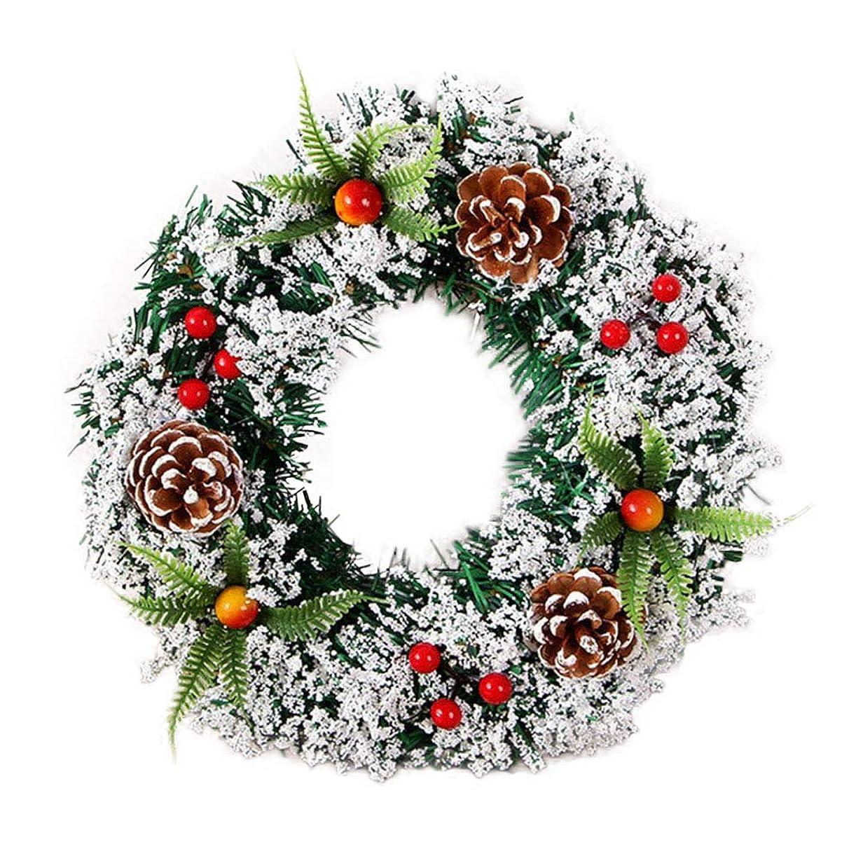 エーカー感謝しているエンジニアLacyie 花輪 造花 ガーランド ドア 壁掛け メリー クリスマス リース クリスマス花輪 装飾輪 ウェディング クリスマス 祝日 装飾 飾り物 おしゃれ