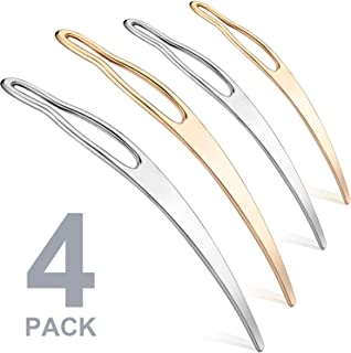 Dreadlock Tool Interlocking Tool for Locs, Easyloc Hair Tool for Dreadlocks, Interlocks or Sisterlocks, Tightening Accessory for Small Starting and Maintaining Your Locs (4 Pieces, Rose Gold, Silver)