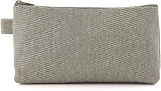 MUJI Canvas Pen Case with Gusset, Raw White - 10 x 19 x 5 cm