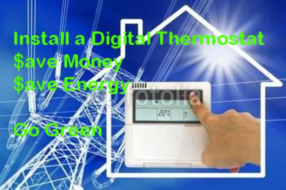 Install a Digital Thermostat Save Money Save Energy Go Green (How to Inatall Book 1) (English Edition)