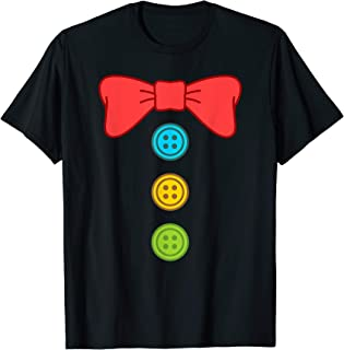 Clown Costume Suit Bow Tie Funny Halloween T-Shirt