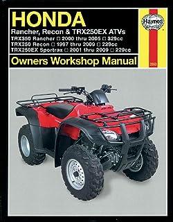 Haynes Repair Manual for Honda TRX (1997-2009)