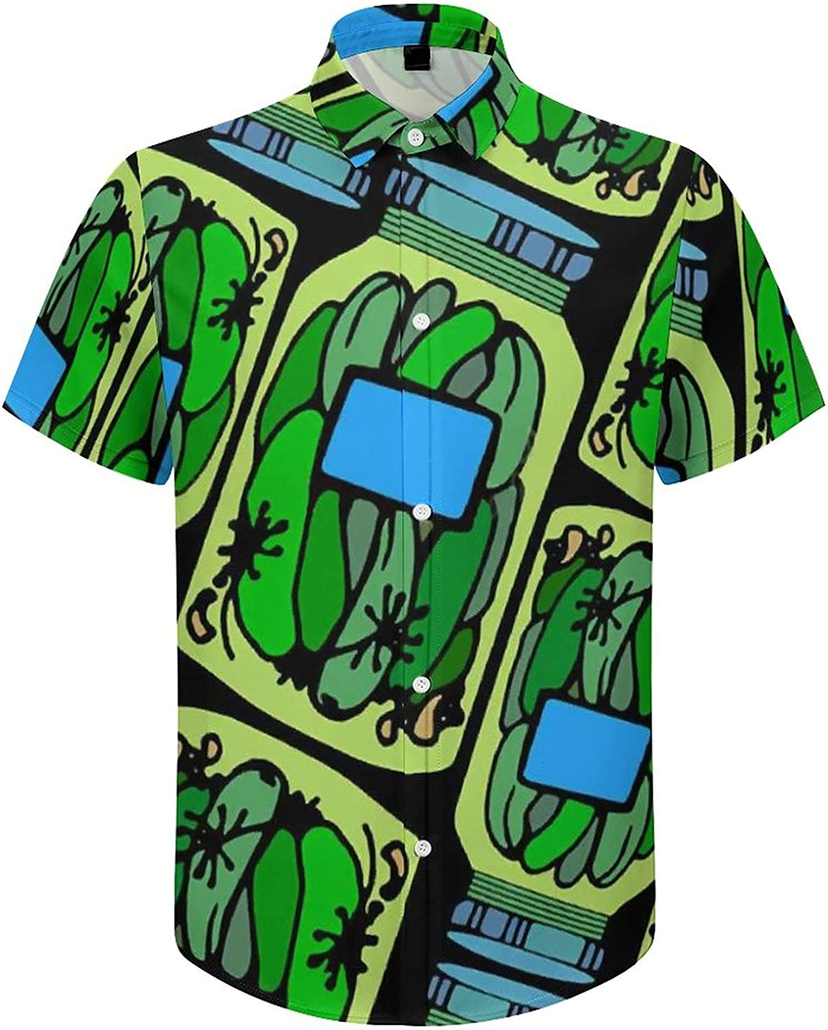 Men's Regular-Fit Short-Sleeve Printed Party Holiday Shirt Healthy Vegetable