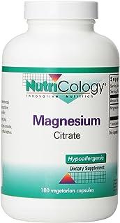 NutriCology Magnesium Citrate 180 Vegetarian Capsules