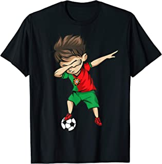 Dabbing Soccer Boy Portugal Jersey Shirt Portuguese Football