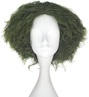 Miss U Hair Synthetic Short Fluffy Curly Hair Men Boy Party Cosplay lolita Wig Halloween Adult(Green)