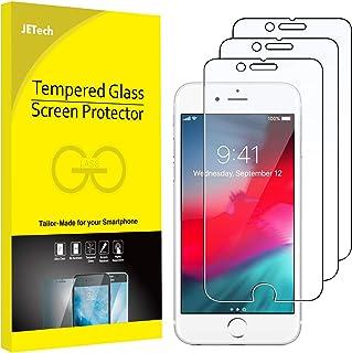 واقي الشاشة من جي تيك لهواتف ابل ايفون اس اي 2020، ايفون 8 وايفون 7 وايفون 6 اس وايفون 6، مصنوع من الزجاج المقسّى، 3 حزم