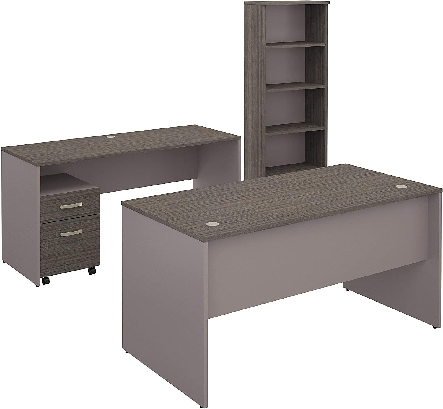 Bush Furniture Commerce 60W Office Fi Mobile New item Desk with Ranking TOP10 Credenza