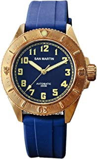 Diving Watch Bronze Automatic Rotating Bezel 200m Water Resistance Professional Rubber Band Luminous Dial PT5000
