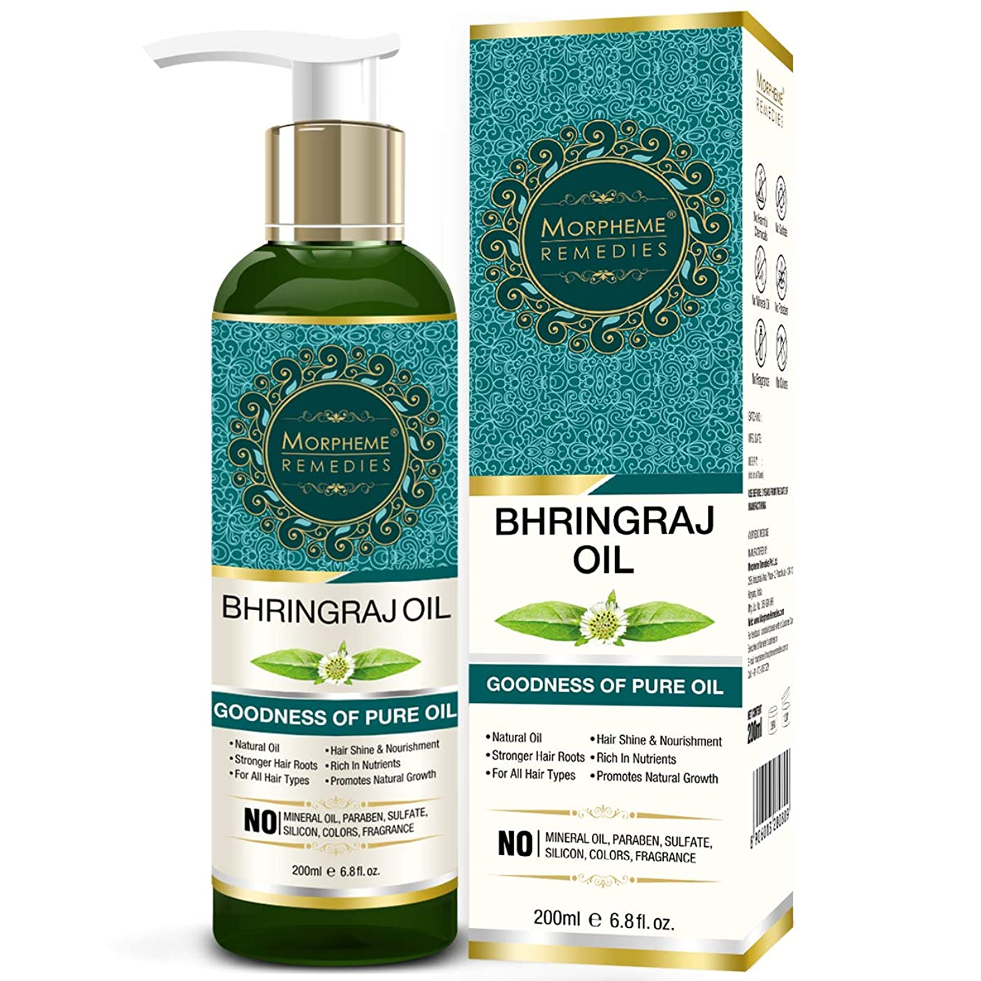 友だち七面鳥洗うMorpheme Remedies Pure Bhringraj Hair Oil 200ml