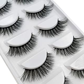 5 Pairs 3D Mink Hair Natural Cross False Eyelashes Long Messy Makeup Fake Eye Lashes Extension Make Up Beauty Tools maquiagem,H06