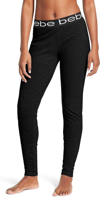 Bebe Womens Jogger Lounge Sleep Pajama Pants Black 1XLarge