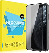 MoKo Compatible with iPhone 11 Pro Max Privacy Screen Protector, [Anti-Spy] Anti-Scratch 9H Hardness Ultra Clear Tempered Glass Film Fit iPhone 11 Pro Max/iPhone Xs Max 6.5 inch 2019 - Black