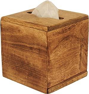 Crafkart Best Buy Wooden Plain Kleenex Tissue Box Holder - Brown Wood Paper Tissue Holder for Napkin and Tissues - Perfect Home Table Decor