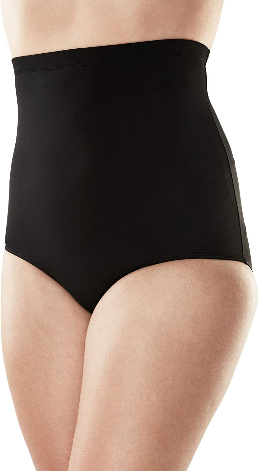 Swimsuits For All Women's Plus Size High-Waist Swim Brief with Tummy Control Swimsuit Bottoms