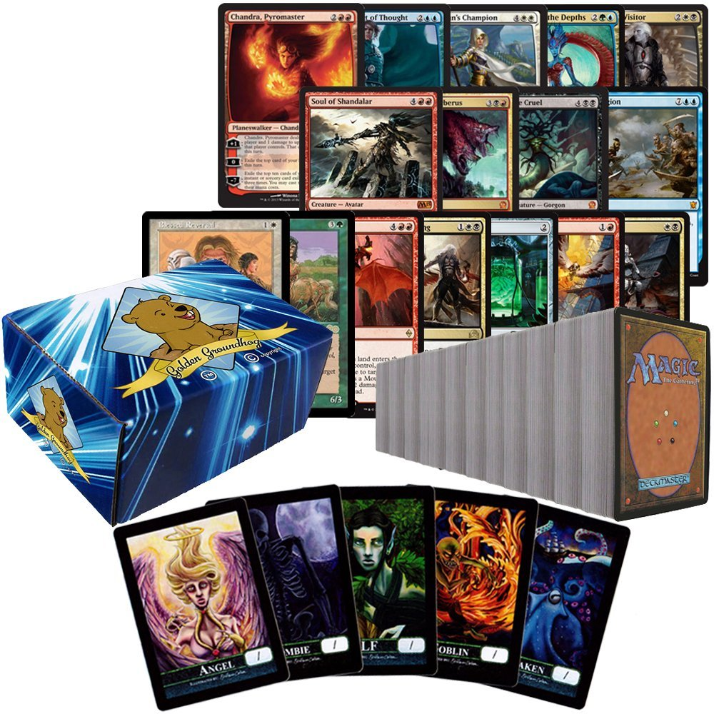 Includes Golden Groundhog Deck Box! The Gathering Spindown Lot of 10 Spindowns Magic