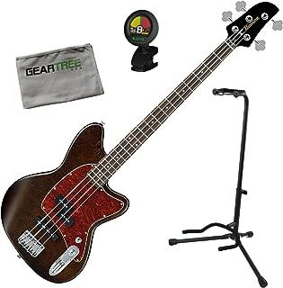 Ibanez TMB100WNF Talman Bass Standard Bass - Walnut Flat w/Stand, Tuner, and Ge