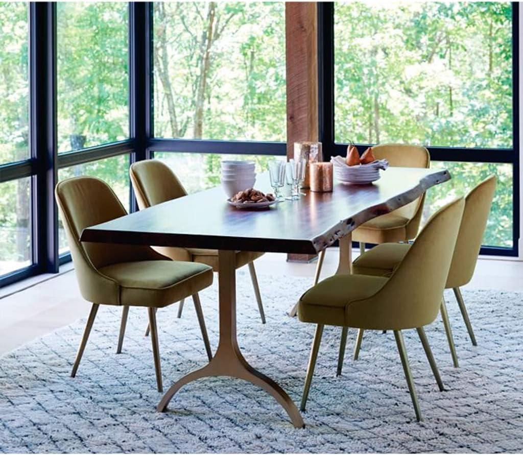 WDX- Chaise de Salle, Chaise de Bureau Simple, créative Dossier, Chaise Loisirs, Maison Adulte Chaise de Salle Confortable (Color : Yellow) Yellow