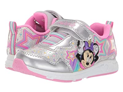 Josmo Kids Minnie Sneaker (Toddler/Little Kid) (Silver/Pink) Girls Shoes