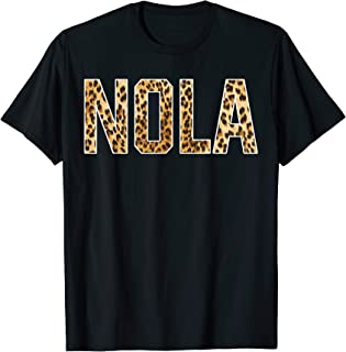 Nola First Name Cheetah Skin Birthday Gift T-Shirt