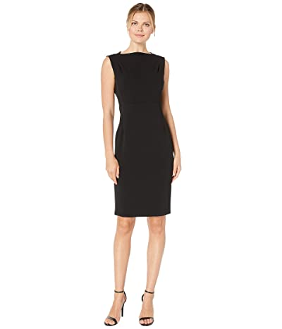 Calvin Klein Bateau Neck Sheath Dress (Black) Women