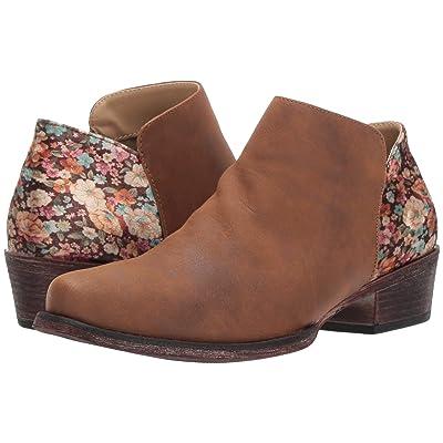 Roper Sedona (Brown Vamp/Floral Velvet Heel) Women