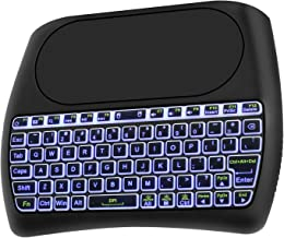 Mini Wireless Keyboard with Touchpad,7 Color Backlight Rechargeable Remote Control.Fly Air Remote Mouse for PC,Android Tv Box,HTPC.IPTV,PS3,Pad,