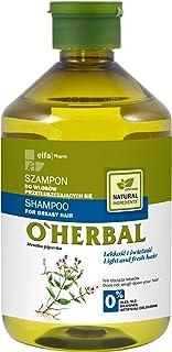OHerbal Champú Cabello/Pelo Graso Natural Ecológico Sin Sulfatos Ni Siliconas Con Extracto De Menta O`Herbal 500Ml 500 ml