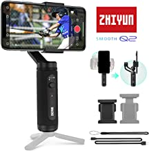Zhiyun Smooth Q2 Handheld Mobile Gimbal Stabilizer w/360° Rotation 17hr Working for iPhone 11 Pro XS Max XR 8 Plus 7 6 Samsung Galaxy S10 S9 S8 etc. Smartphone YouTube Vlog Video Recording(Mini Size)
