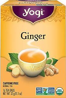 Yogi Organic Herbal Tea Caffeine Free Ginger - 16 Tea Bags