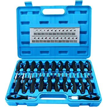 Youngneer Terminals Removal Key Tools Set 57 Pieces Automotive Terminals Pin Extractor Puller Repair Remover Key Tools Kit for Car Auto Electrical Wire Connector Terminal