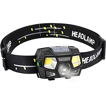 BACKTURE Linterna Frontal, 300 Lumens Recargable USB Linterna ...