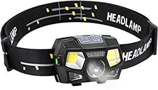 comprar comparacion BACKTURE Linterna Frontal, 300 Lumens Recargable USB Linterna Cabeza, 5 Modos LED Linternas Frontales con Sensor de Movimi...