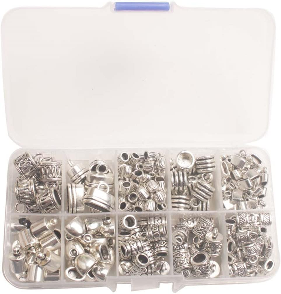 Gifts ChangJin One Box of Recommendation 245PCS Antiqued Metal C Silver Clasp Bead