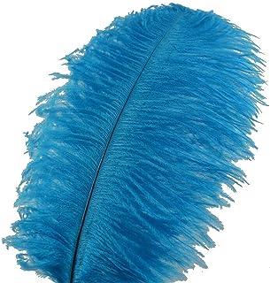 WXJ 15-70 cm de Plume d'autruche Bleue, 10-200pcs / lot DIY Plumes de Bijoux pour Artisanat Faire des Plumes de décoration...