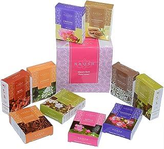 Zahra Premium Masala Back Flow Cones Masala Back Flow Natural Incense Cones Assorted 10 Fragrances with 8 Cones Each…