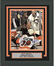 Framed Autographed/Signed Scott Hartnell Hulk Hogan vs Penguins Philadelphia Flyers 16x20 Hockey Photo JSA COA