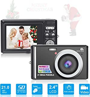 HD Mini Digital Cameras,Point and Shoot Digital Video Cameras-Travel,Camping,Gifts
