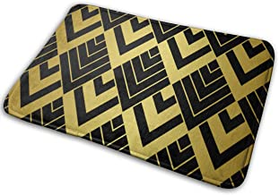 Door Mats Art Deco Golden Floor Mat Indoor Outdoor Entrance Bathroom Doormat Non Slip Washable Welcome Mats Decor 23.6 x 1...