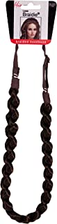 Mia Loose Braidie-Specialty Braided Headband Made Of Quality Synthetic/Faux Wig Hair With No Slip Feature-Medium Brown Color-Meaures 0.6 Wide-Adjustable Strap-One Size Fits All! (1 piece per package)