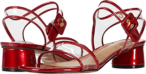 Red Patent/Clear