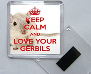 Square Acrylic Fridge Magnet Keep Calm and Love Pickled Gherkins